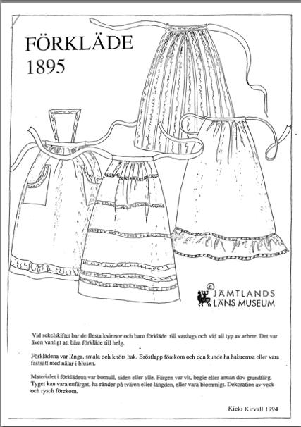 1895 Förkläde Jamtli